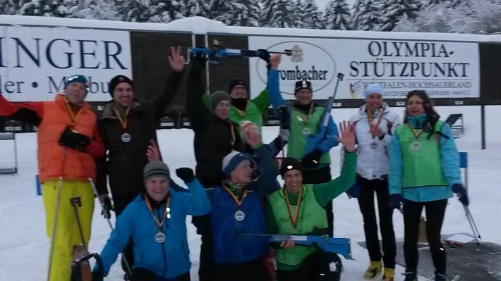 Spannender Staffelbiathlonwettkampf in Winterberg!